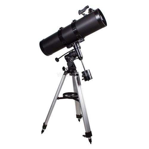 Aynalı 150mm açıklığa 1400mm odak uzunluğuna sahip, Ekvatoral kundaklı manuel teleskop